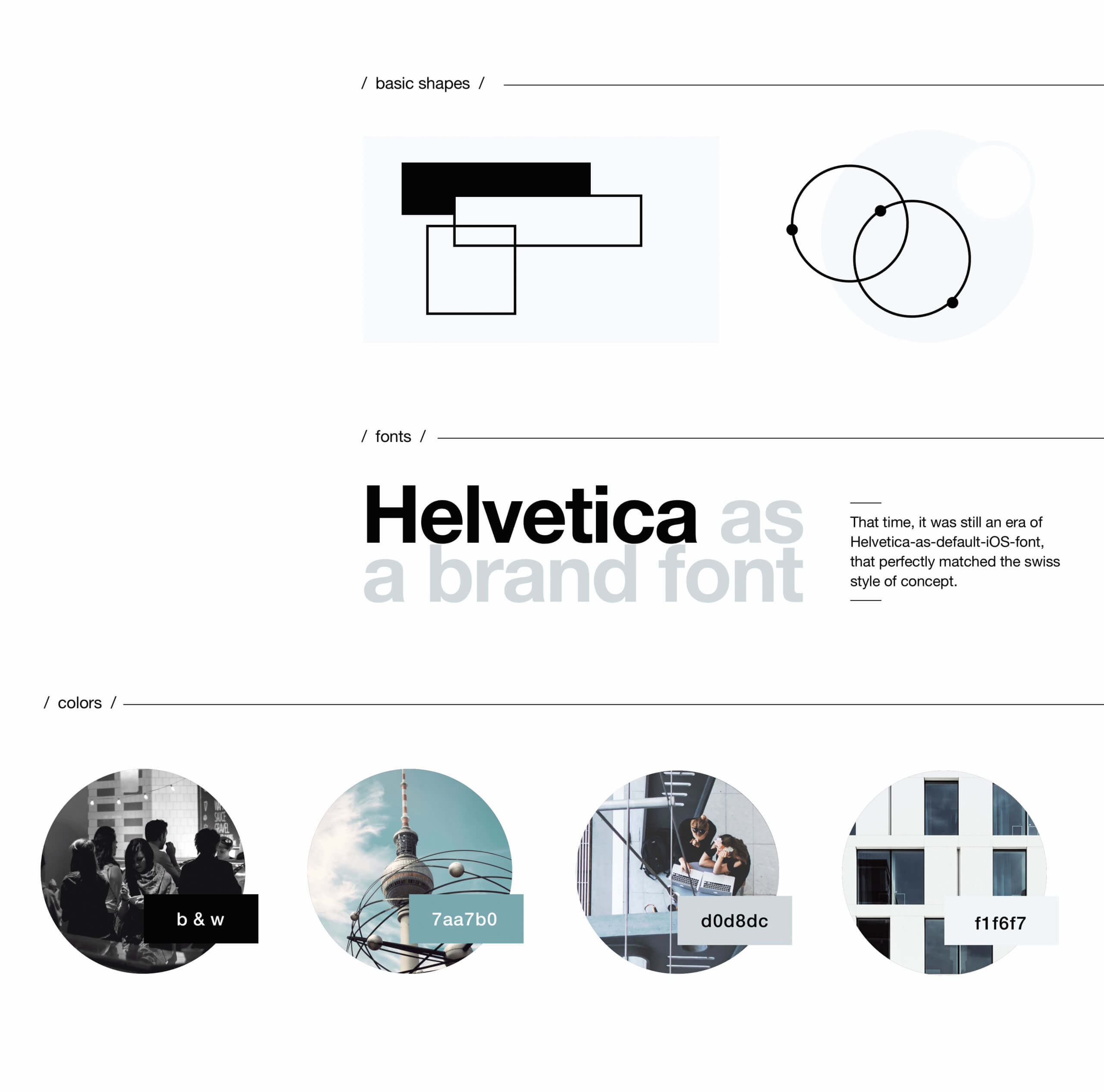 co-working space brand foundation based on Helvetica Nezhynska