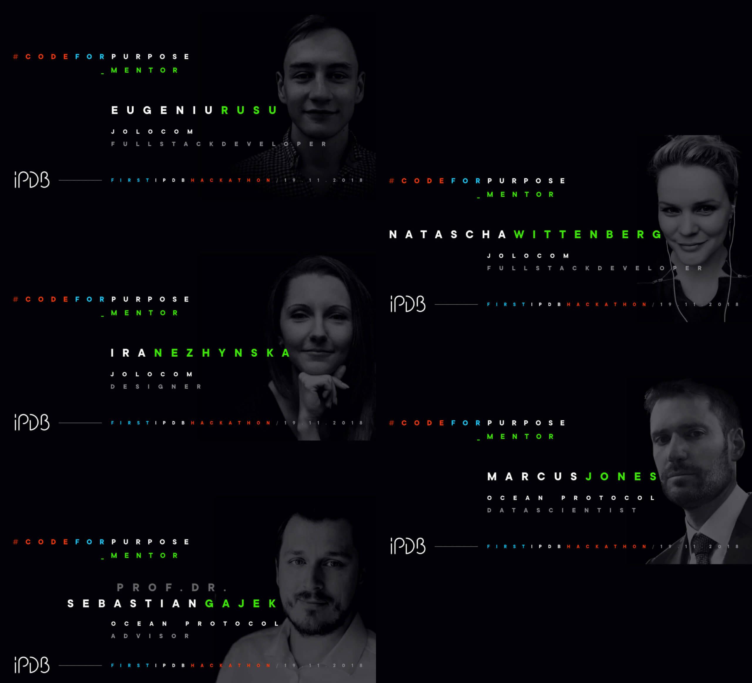 IPDB hackathon brand identity mentors announcements