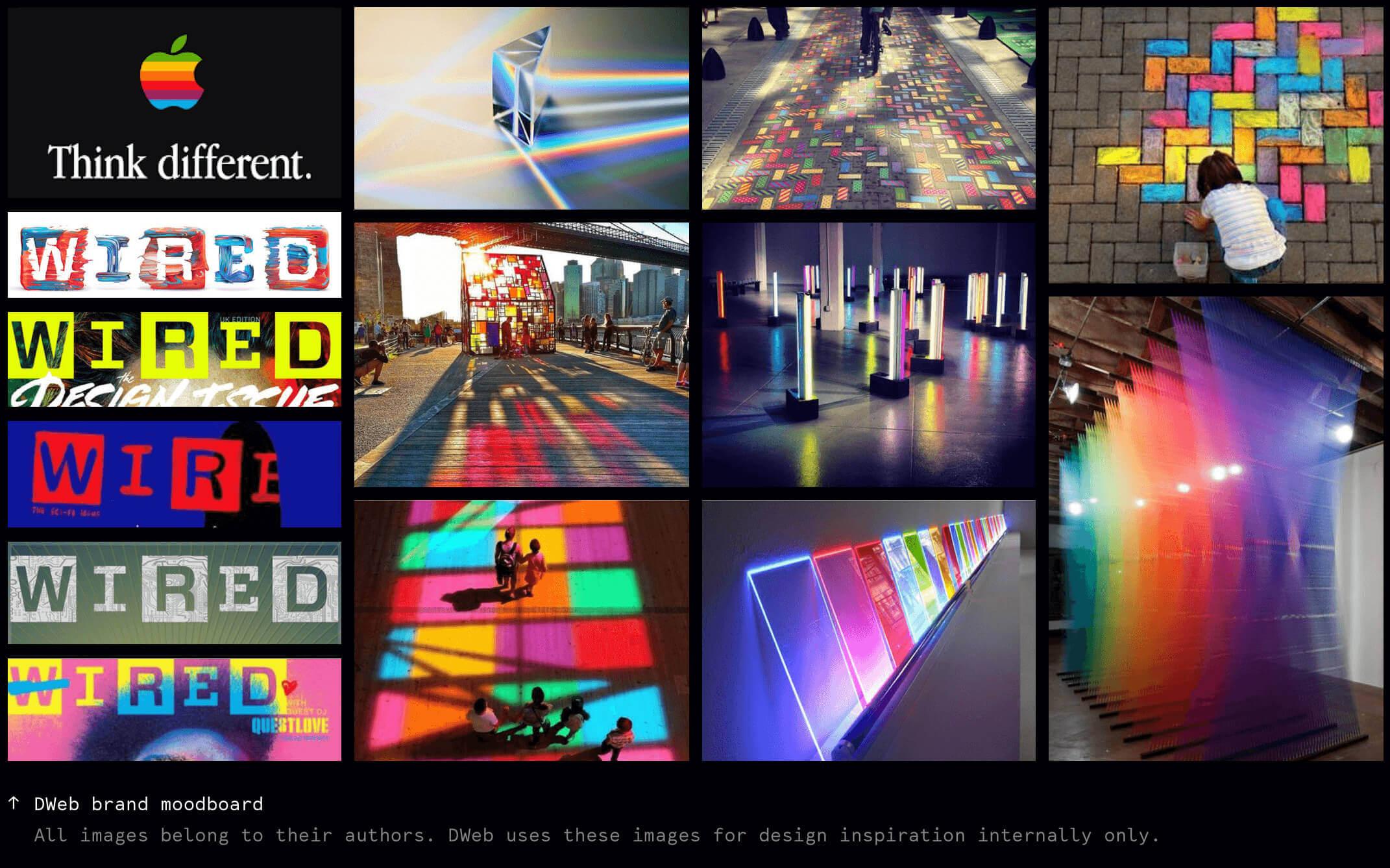 decentralized web branding Nezhynska moodboard