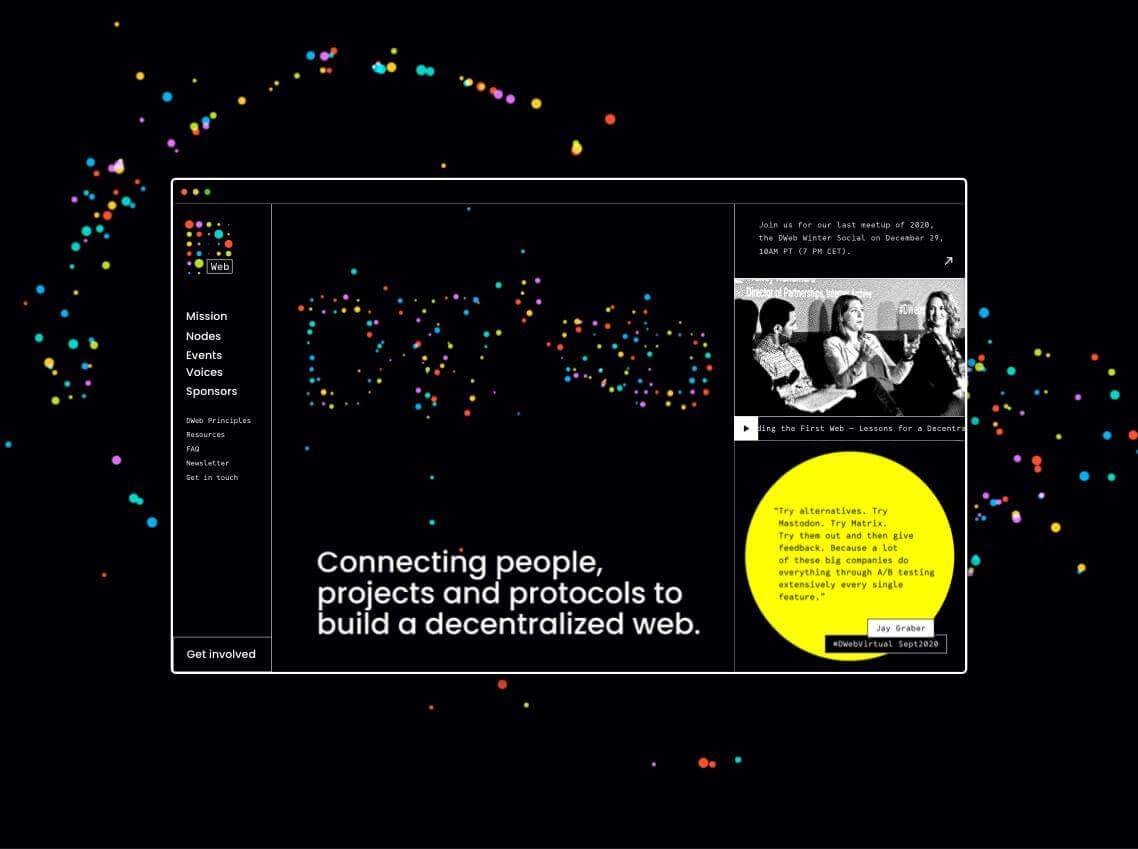 decentralized web branding Nezhynska website
