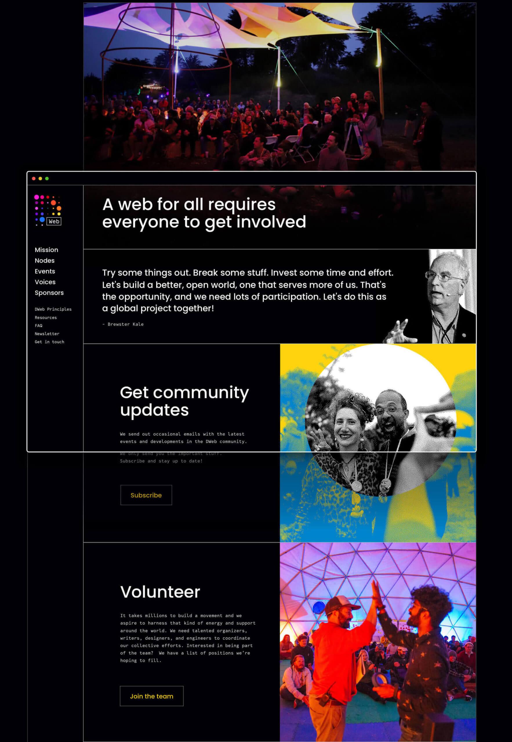 DWeb design Nezhynska get involved