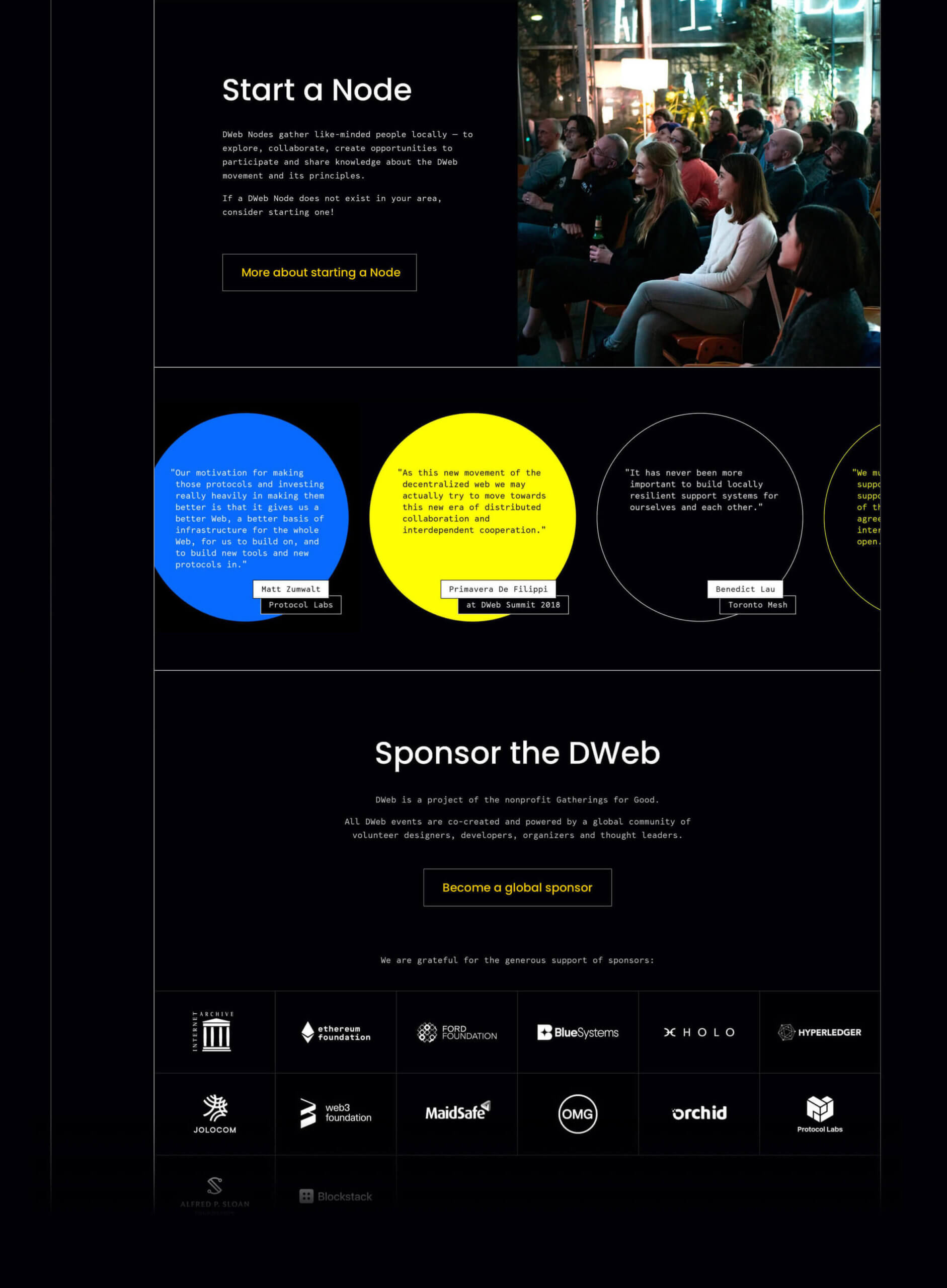 DWeb design Nezhynska get involved page quotes
