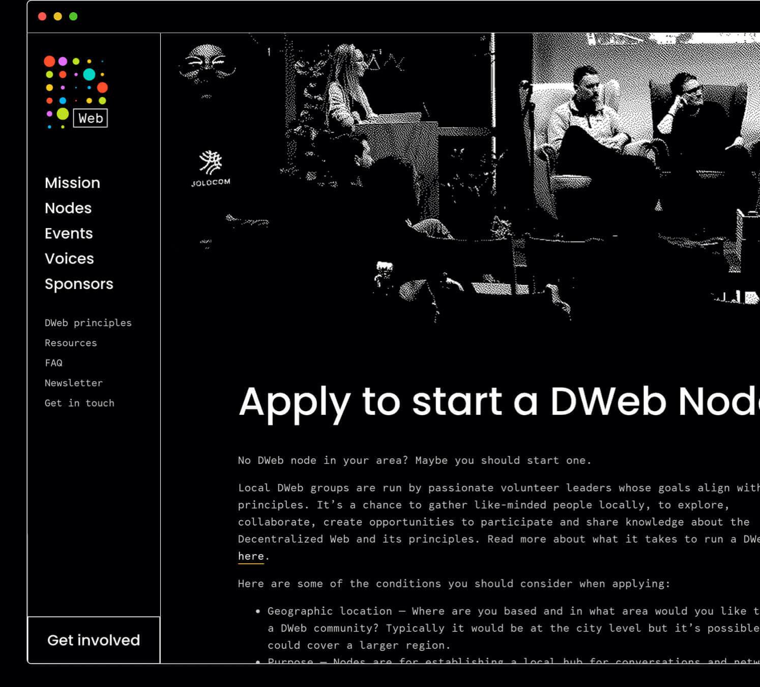 DWeb Nezhynska branding start a node